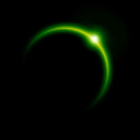 green eclipse photo