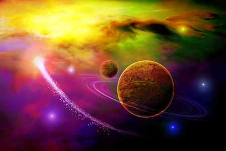 alien planet: space
