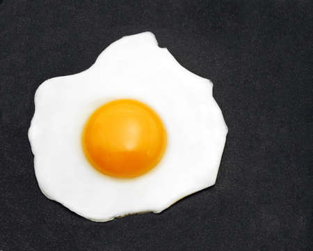 egg in pan photo