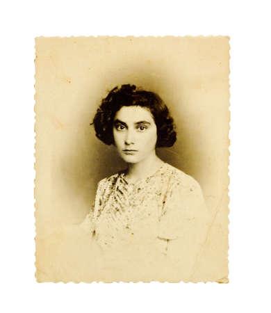 przodek: archiwalne zdjÄ™cie dziewczynka youn Zdjęcie Seryjne