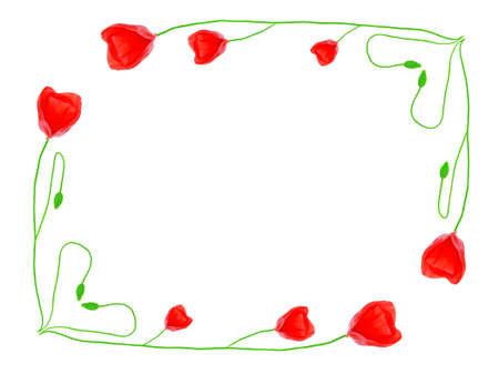 poppy frame Stock Photo