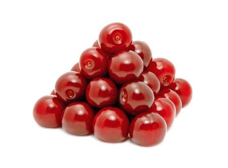 sour cherry: sour cherry pyramid Stock Photo