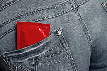condom in backpocket photo