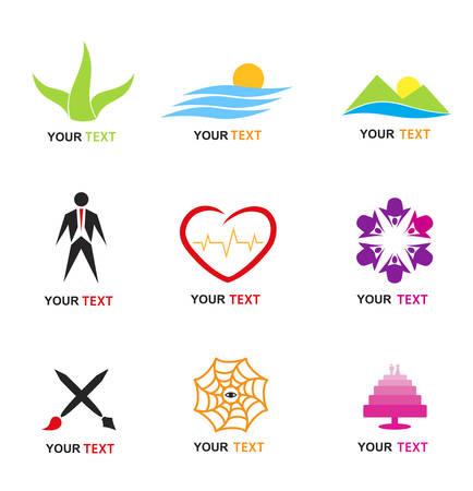 logotipo de diversos establecer  Vectores