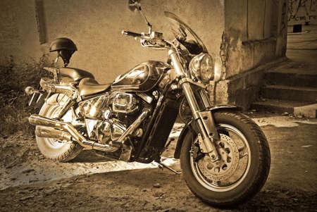 vintage motorbike photo