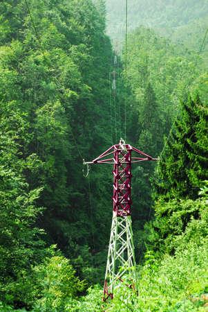 high voltage poles photo