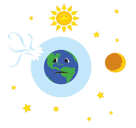 ozone: broken ozone layer Stock Photo