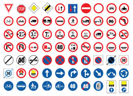 road safety: traffic icons
