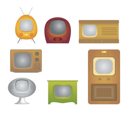 vintage tv Stock Photo - 8114959