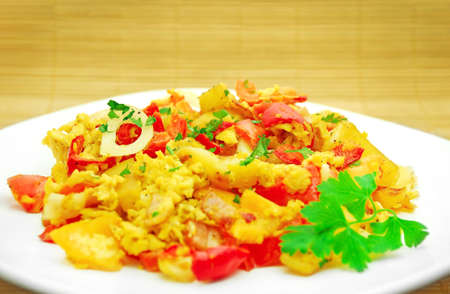 vegetable and egg mix