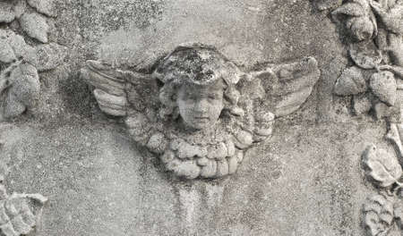 wing figure: stone angel