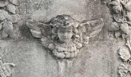 wing figure: stone angel