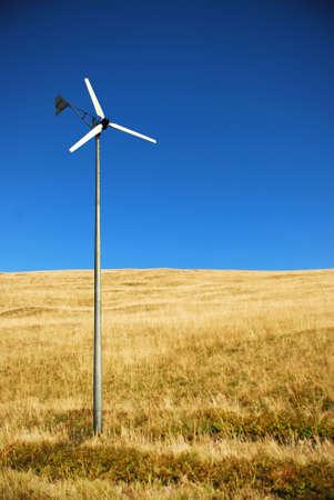 eolian: wind turbine Stock Photo