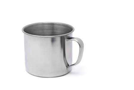 tin: tin mug