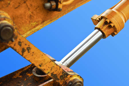 heavy duty: excavator piston Stock Photo