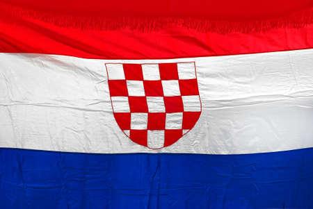 croatian: croatian flag Stock Photo