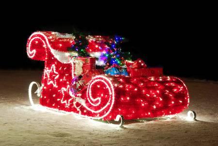 christmas sleigh: christmas sleigh Stock Photo