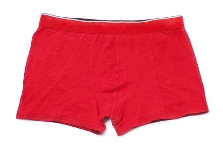 pantalones cortos: pantalones cortos rojos aislados en blanco