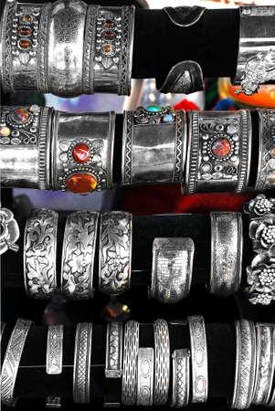 armlet: vintage metal armlets on display