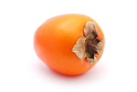 ebenaceae: sharon fruit on white background
