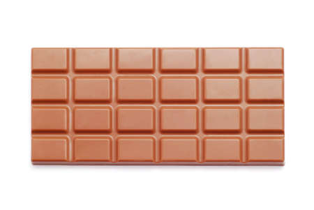 chocolate tablet on white background photo