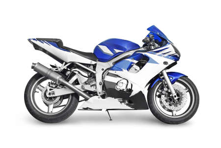 sport bike on white background Stock Photo