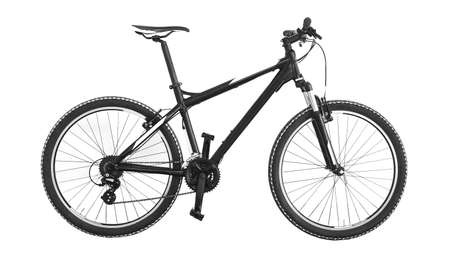 mountain bike on white background