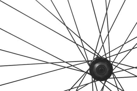 spoke: bicycle wheel spoke detail isolated
