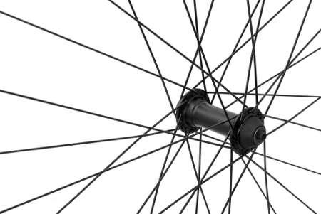 spoke: bicycle spoke detail closeup isolated