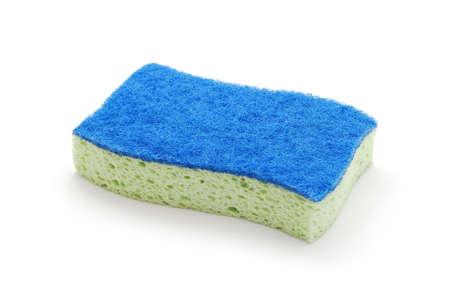 cleaning sponge on white background photo
