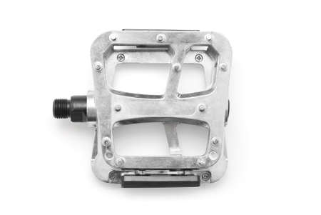 non skid: bicycle pedal on white background