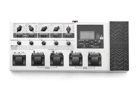 modulator: guitar effect processor on white Stock Photo