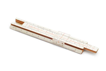 depth measurement: carpentry wood ruler on white