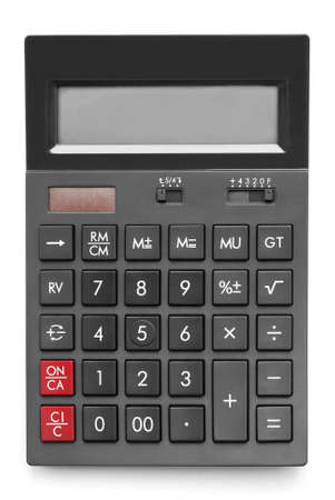 office calculator on white background photo