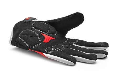 sports shell: bicycle sport gloves on white Stock Photo