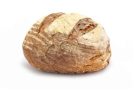 tranches de pain: grand pain isolé sur blanc