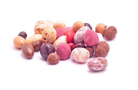 gumballs: handmade candy mix isolated on white