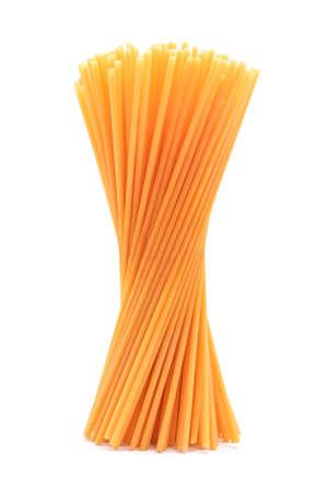 concep: spaghetti bucatini pasta studio isolated Stock Photo