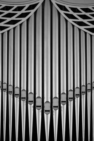 pipe organ: church organ pipe tubes closeup Stock Photo