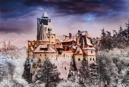 Bran (Dracula) castle of Transylvania, in Brasov region, Romania, europe