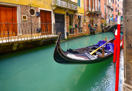 Gondola on the canal in Venice
