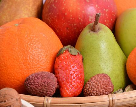 Close-up of fresh organic fruits