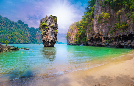 island in Thailand, Khao Phing Kan stone