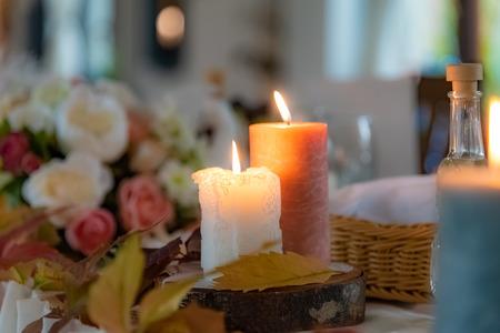 Wedding decoration in autumn style design