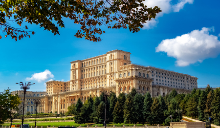 Famous Parliament Palace in Bucharest capital of Romania in Europe