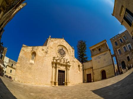 Historic Cathedral architecture of Santa Maria Annunziata in Otranto city, Province of Lecce in Italy