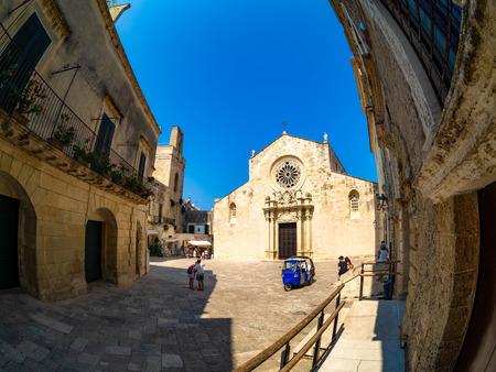 Historic Cathedral architecture of Santa Maria Annunziata in Otranto city square, Province of Lecce in Italy