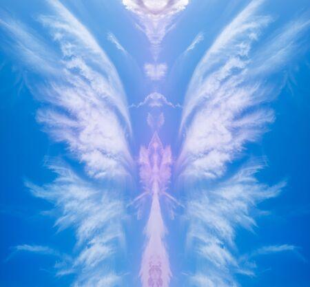 Creative design of an abstract angel shape wallpaper