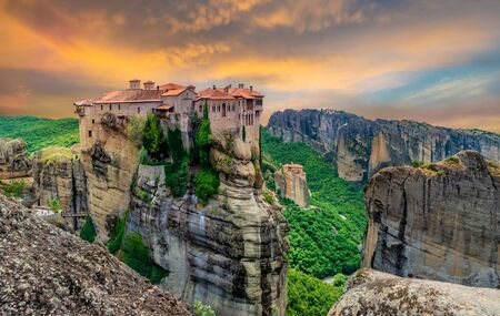 Meteora religious site and monastery in Greece