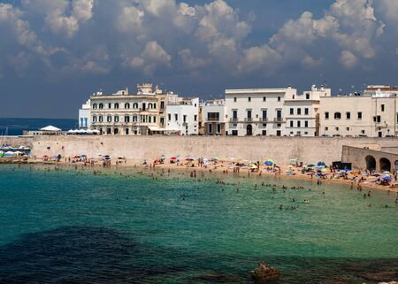 Summer holiday on the beach in Italy Imagens